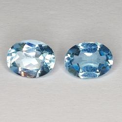 3.19ct Pair Blue Topaz oval...