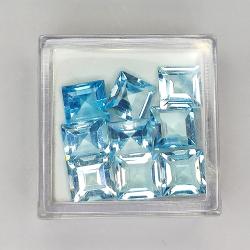 10.96ct Blue Topaz princess...