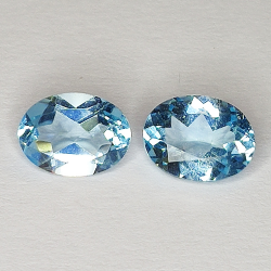 2.77ct Pair Blue Topaz oval...