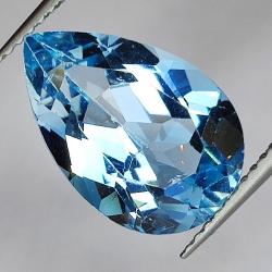 7.03ct Blue Topaz pear cut...