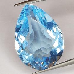 11.66ct Blue Topaz pear cut...