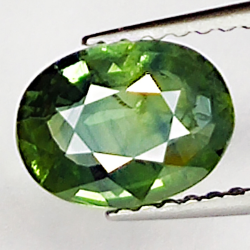 1.34ct Green Sapphire oval...
