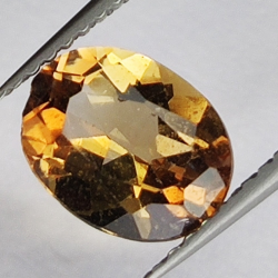 2.01ct Champagne Topaz oval...