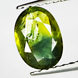 0.92ct Green Sapphire oval...