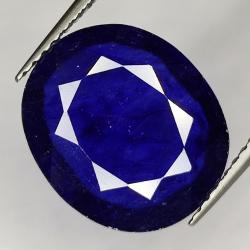 6.61ct Blue Sapphire oval...