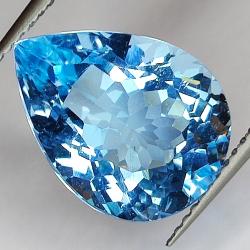 7.96ct Blue Topaz pear cut...