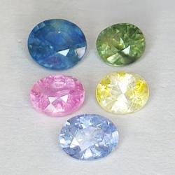 2.88ct Sapphire Multicolor...