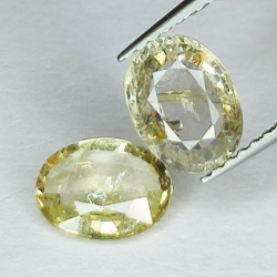 2.86ct Pair Yellow Sapphire...