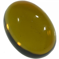 5.27ct Amber cabochon oval...