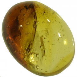 4.39ct Amber cabochon oval...