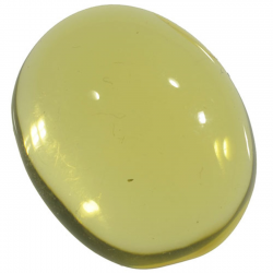 4.37ct Amber cabochon oval...