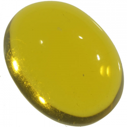7.11ct Amber cabochon oval...