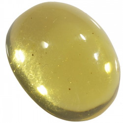 6.16ct Amber cabochon oval...