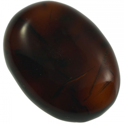 5.02ct Amber cabochon oval...