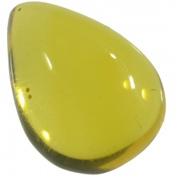3.82ct Amber cabochon oval...