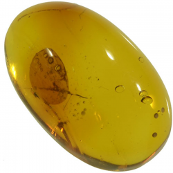 3.90ct Amber cabochon oval...