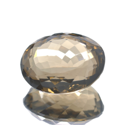 48,59 ct. Smoked Quartz Ovale