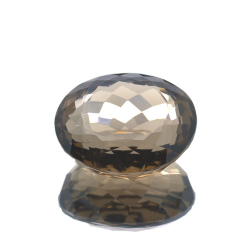 55,27ct. Smoked Quartz Ovale