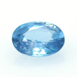1,65 ct Blue Zircon cut oval