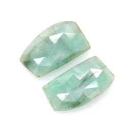 10,69 ct. Emerald Cabochon Cut