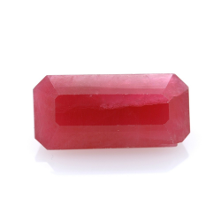 14,21 ct Rhodonite Emerald Cut