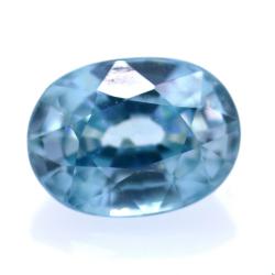 2,18 ct Natural Blue Zircon...