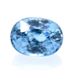 2,38 ct Natural Blue Zircon...