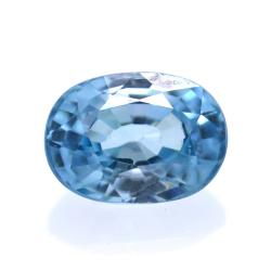 2,27 ct Natural Blue Zircon...