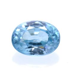 1,93 ct Natural Blue Zircon...