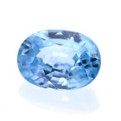 2,16 ct Natural Blue Zircon...