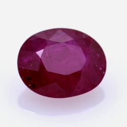 2,51 ct. Ruby Oval Cut