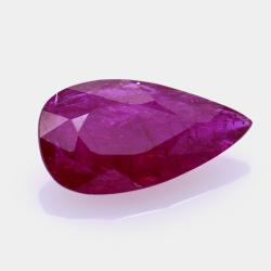 2,16 ct. Ruby Pear Cut