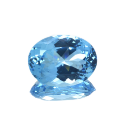 20,69 ct Blue Topaz Oval Cut
