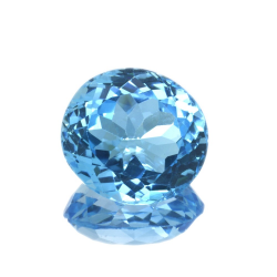 16,64 ct Blue Topaz Oval Cut