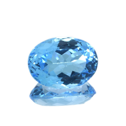20,77 ct Blue Topaz Oval Cut