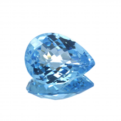 24,66 ct Blue Topaz Pear...