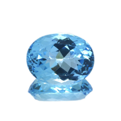 22,08 ct Blue Topaz Oval Cut