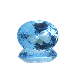 22,79 ct Blue Topaz Oval Cut