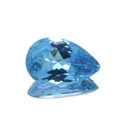 22,56 ct Blue Topaz Pear Cut