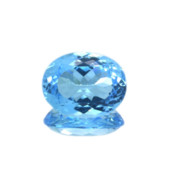 19,24 ct Blue Topaz Oval Cut