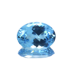 22,02 ct Blue Topaz Oval Cut