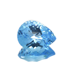 27.83 ct Blue Topaz Pear Cut