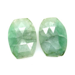 10.95 ct Set Emerald Fancy...