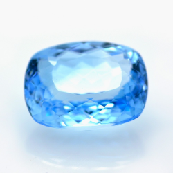 32.66ct Blue Topaz Cushion Cut