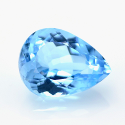 23.91ct Blue Topaz Pear Cut