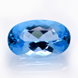 24.51ct Blue Topaz Oval Cut