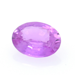 0.53ct Pink Sapphire Oval Cut