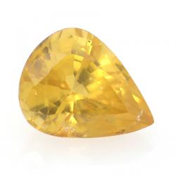 1.02ct Yellow Zircon Pear Cut