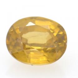 1.14ct Yellow Zircon Oval Cut