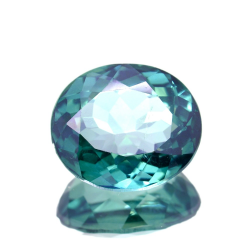9.98ct Green Topaz Oval Cut